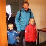 Johan Fynbo fra Astronomisk Selskabs bestyrelse havde taget familien med.